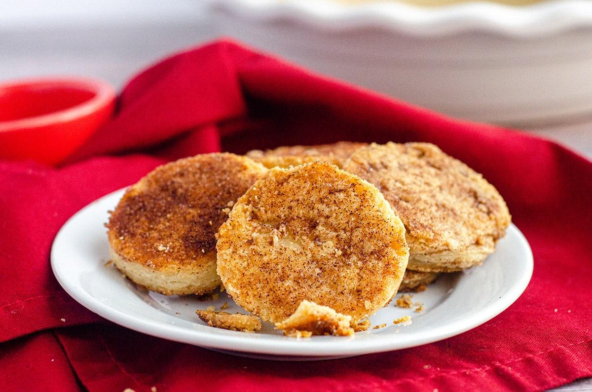 pie crust cookies on a plate