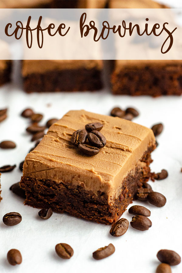 Rich scratch brownies flavored with concentrated coffee and topped with a creamy mocha frosting.