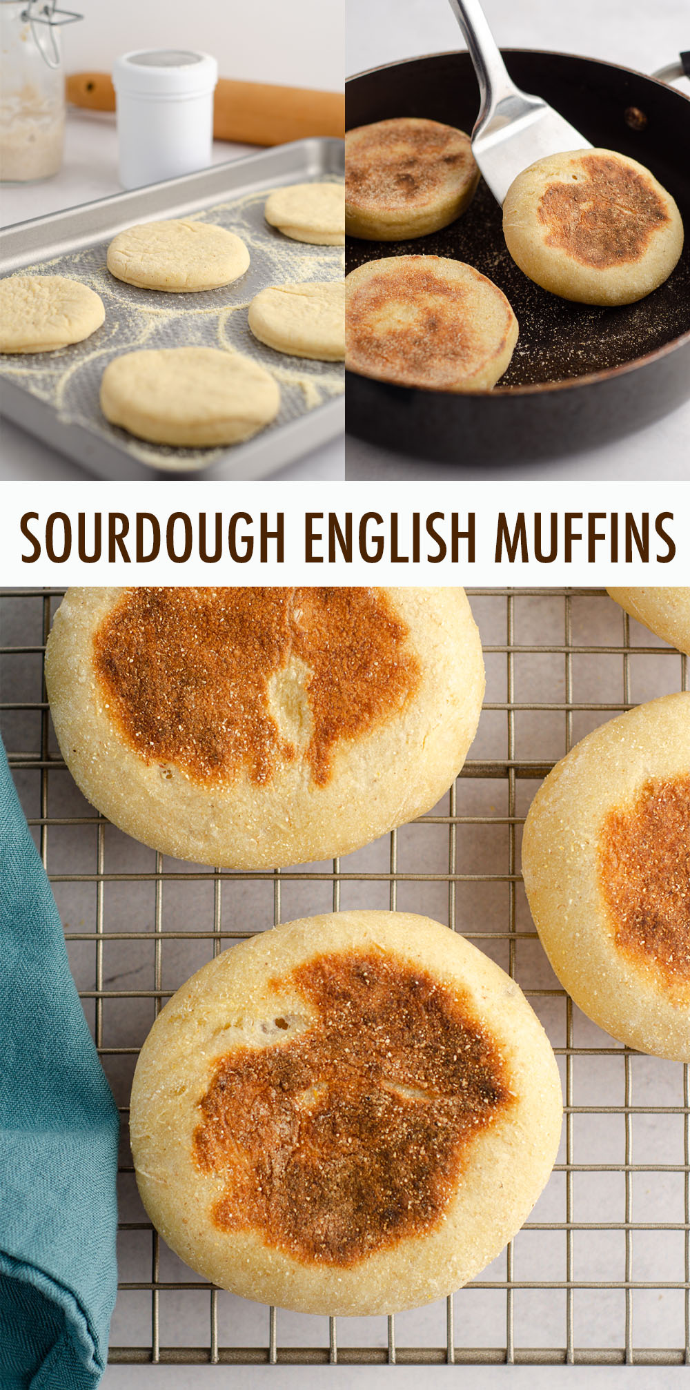 Put that sourdough starter to good use and make your own sourdough English muffins from scratch, with all the nooks and crannies you love about the store-bought ones!
