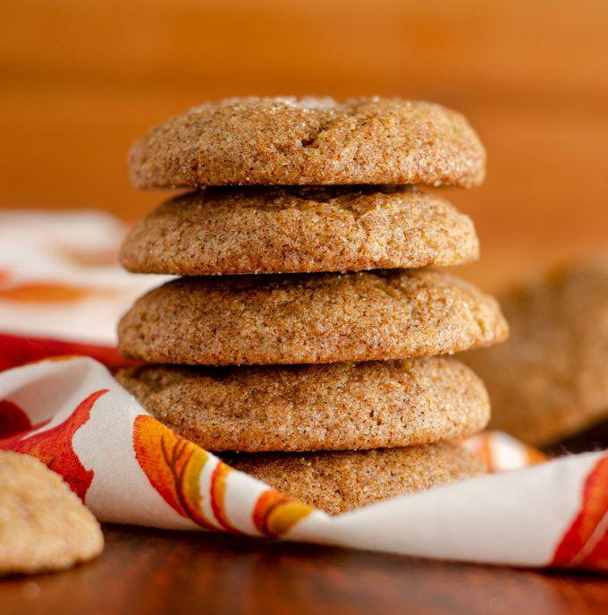 stack of pumpkin spice cookies