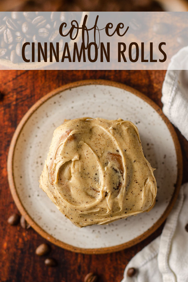 Decadent coffee cinnamon rolls slathered in coffee cream cheese frosting are the perfect complement to your morning cup of coffee.