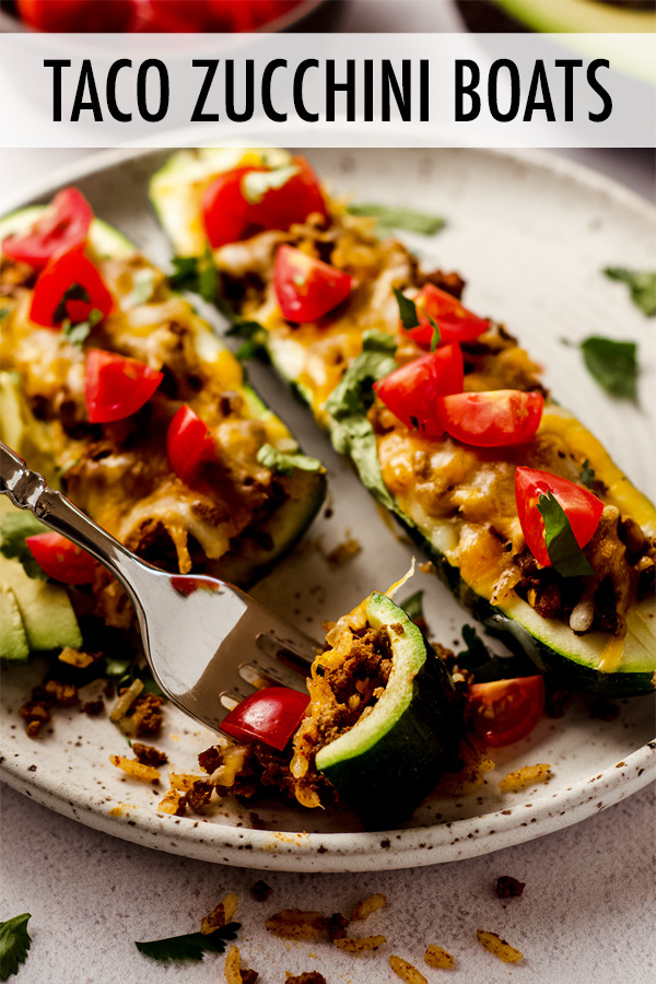 Turn your ordinary zucchini into tasty taco stuffed zucchini boats filled with seasoned meat and rice, and covered in your favorite toppings.