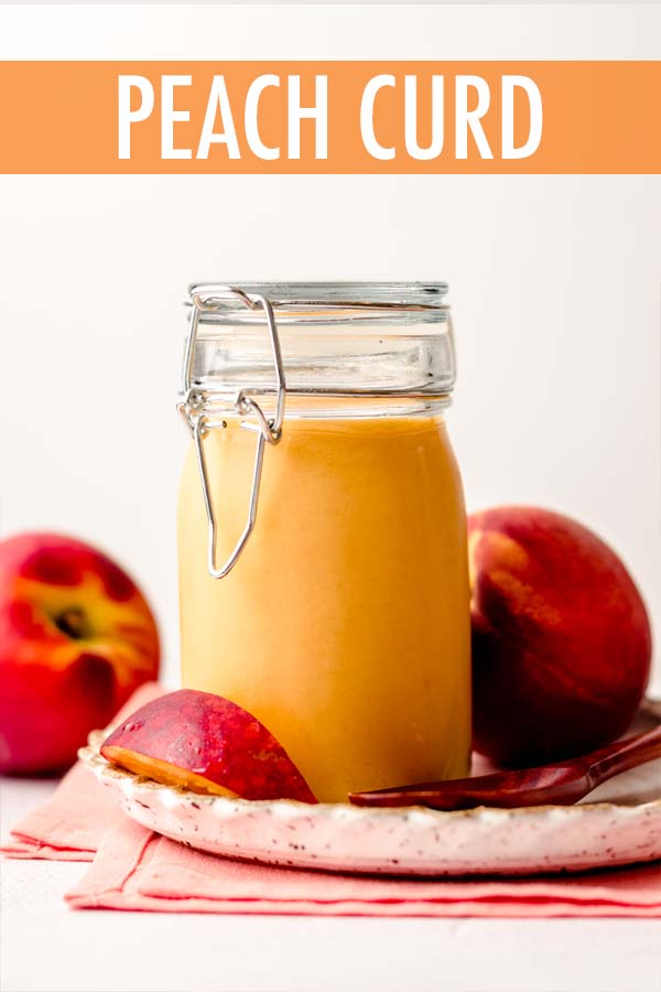 Sweet and creamy peach curd made from fresh peaches and a few simple ingredients. Perfect for filling cakes, pies, and cupcakes, or using as a spread or topping.