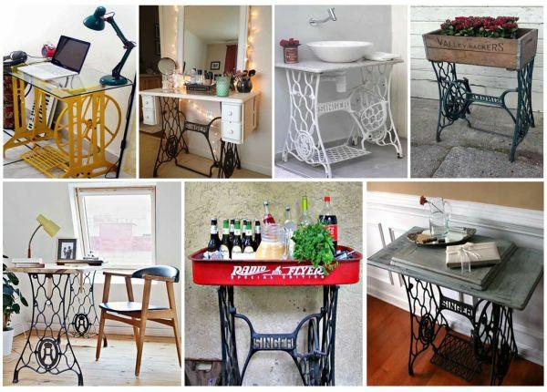 Alte Möbel neu gestalten - die alte Nähmaschine als
