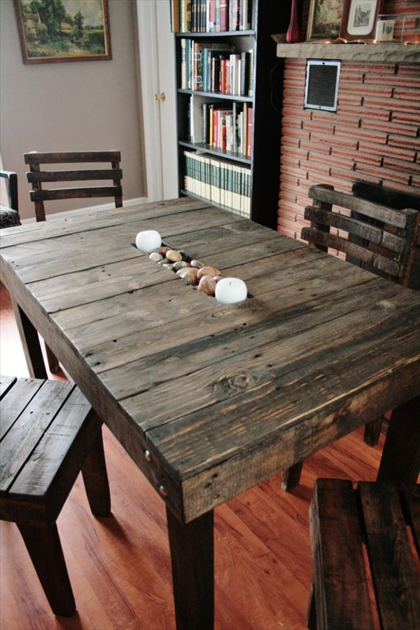 17 Diy Plans Decorating Your Food Area On Pallet Dining