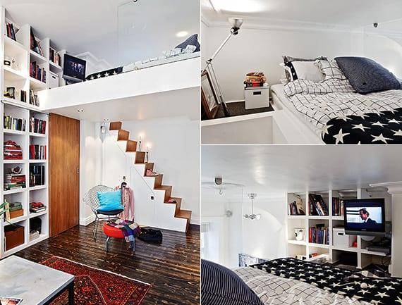 Die kleine Wohnung einrichten mit Hochhbett - fresHouse