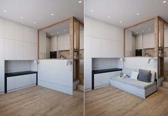 25m²: ein multifunktionales City Apartment - fresHouse