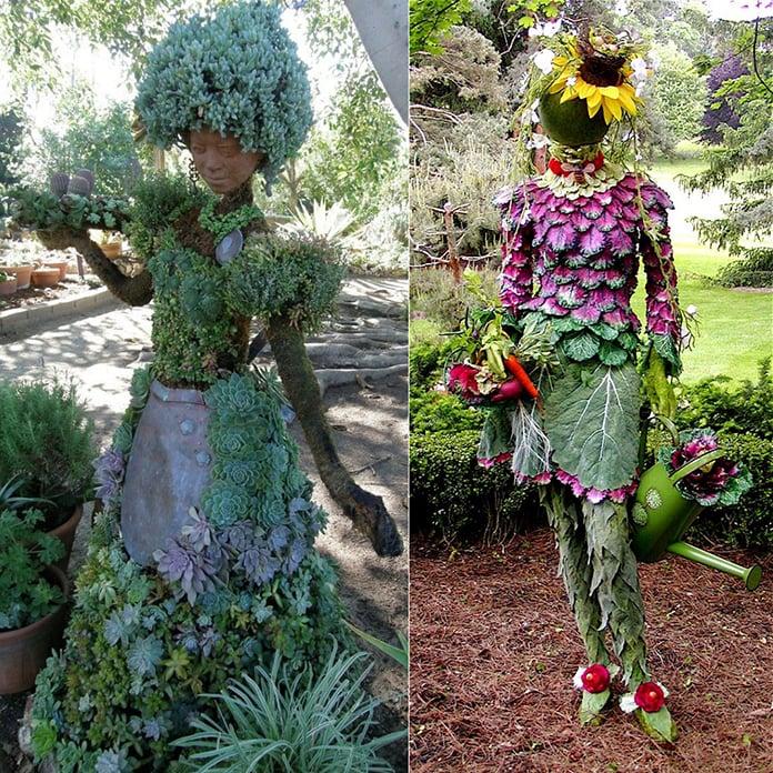 Metal Garden Ornaments Flowers
