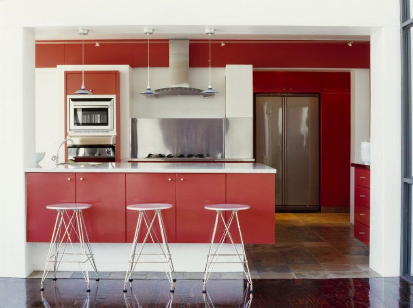 Brilliant Kitchen Cabinet Colors for Inspiration   Friel Lumber Company Brilliant Kitchen Cabinet Colors for Inspiration   Red