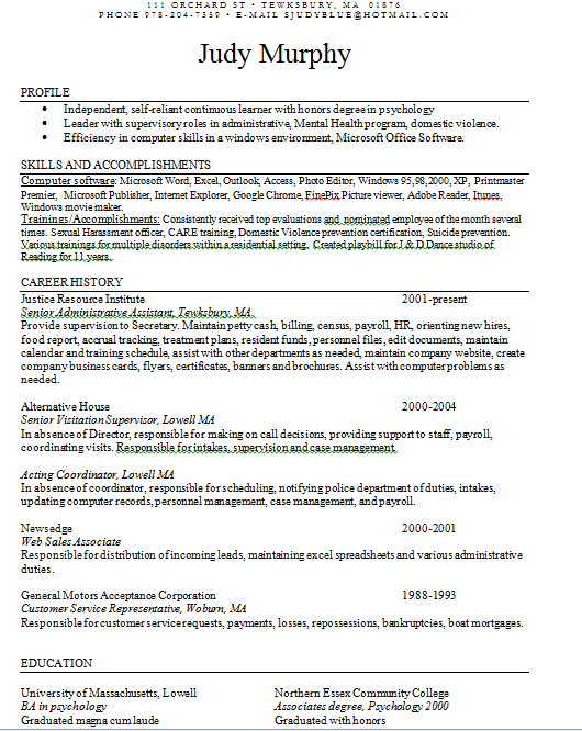 Resume Friends Of Kevin