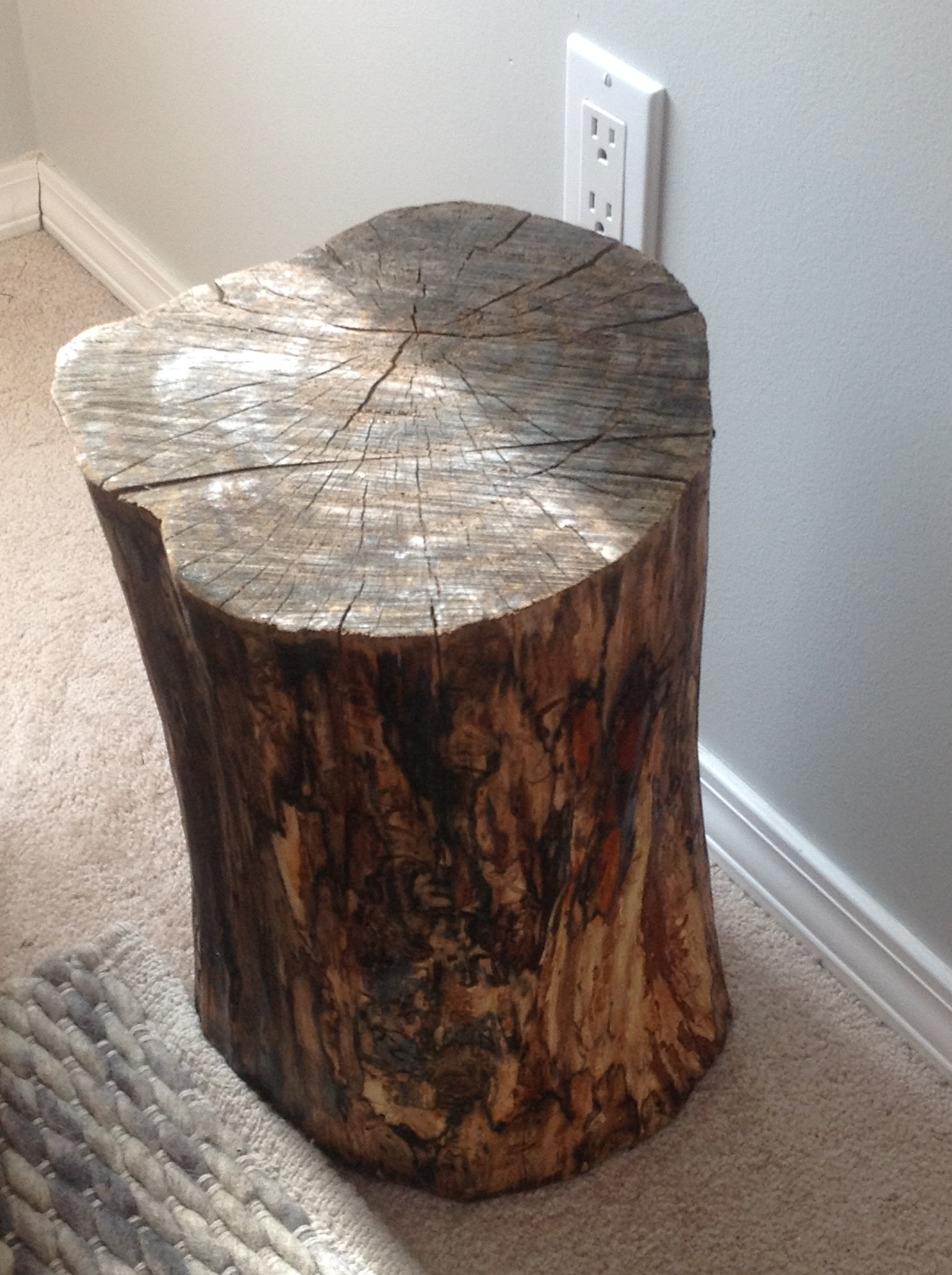 The Nursery Diy Tree Stump Side Table Frugal To Freedom
