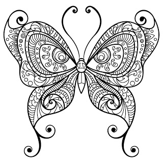 butterfly coloring pages for adults # 55