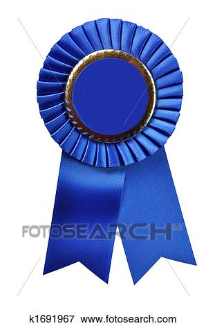 Picture Of Blue Ribbon Award With Clipping Path K1691967