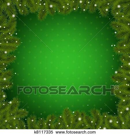 Clipart of Christmas Border With New Year Tree k8117335   Search     Clipart   Christmas Border With New Year Tree  Fotosearch   Search Clip  Art  Illustration