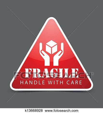 Clip Art of Fragile icon k13668928 - Search Clipart ...