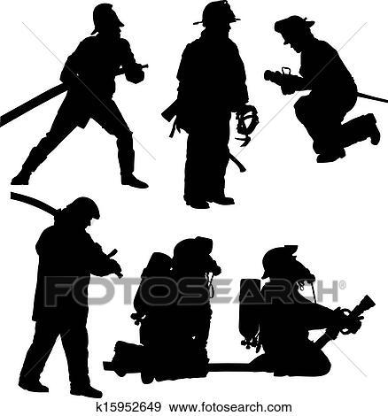 fireman silhouette clip art # 3