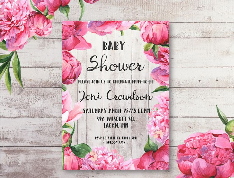 Baby Shower Invitations Can Be Edited