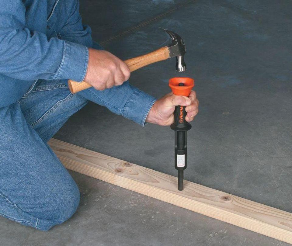 Nail Gun Concrete Floor