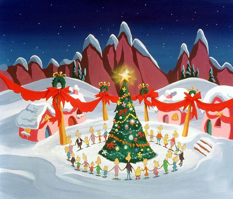 Stole Village Whoville Grinch Dr How Seuss Christmas