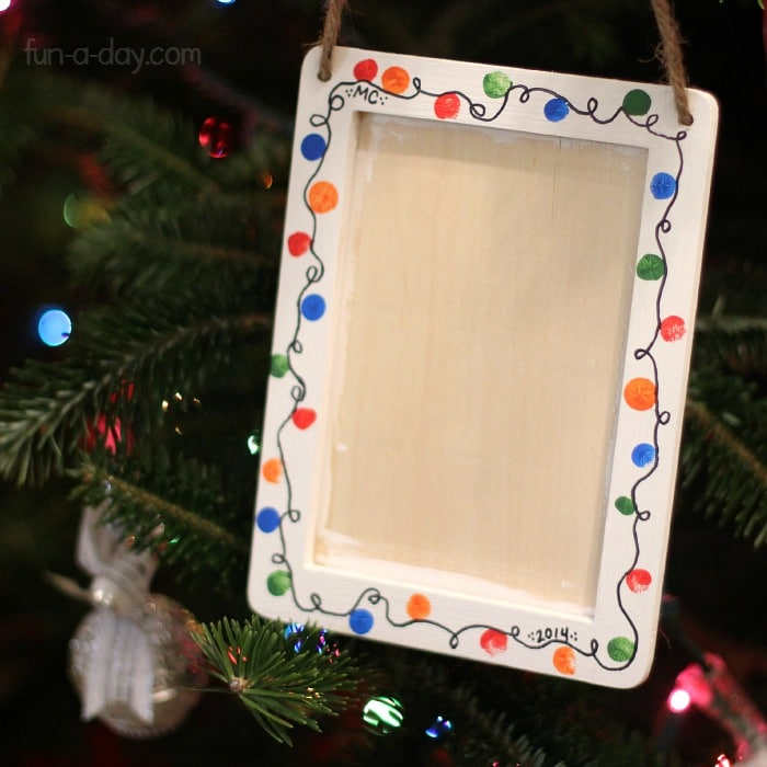 Christmas Light Picture Frame