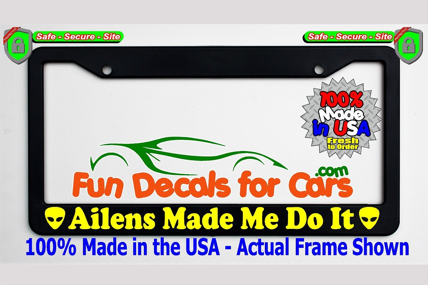 Funny License Plate Frame Top
