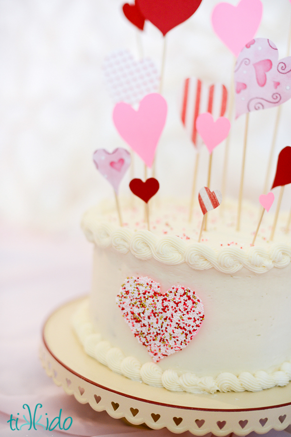 Sprinkle Heart Cake Decoration Fun Family Crafts