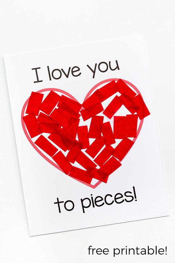 Valentines Day Card Math