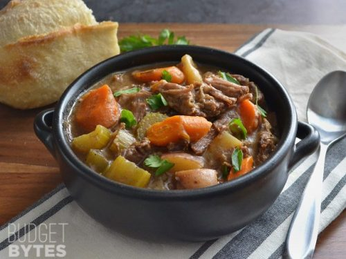 slow cooker beef stew with rosemary