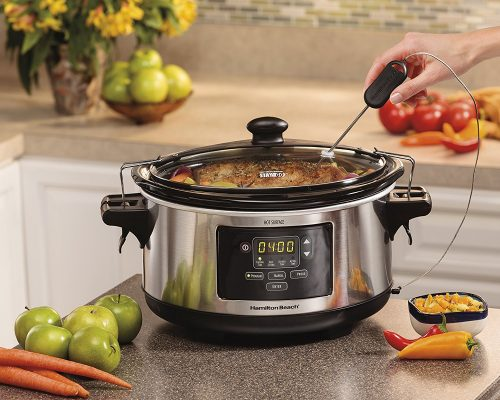Slow cooker with probe