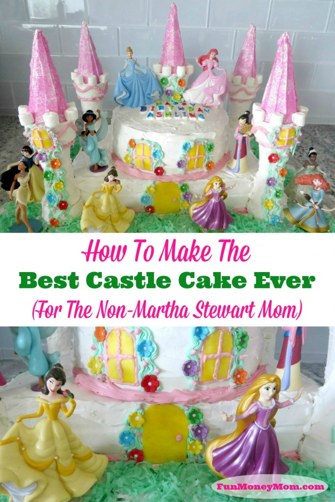 Easy Castle Cake - Need a Disney princess castle cake for your little girl's birthday party? This birthday cake is perfect for your little girl's birthday party!