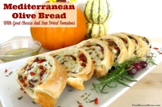This mediterranean olive bread can be served with almost anything