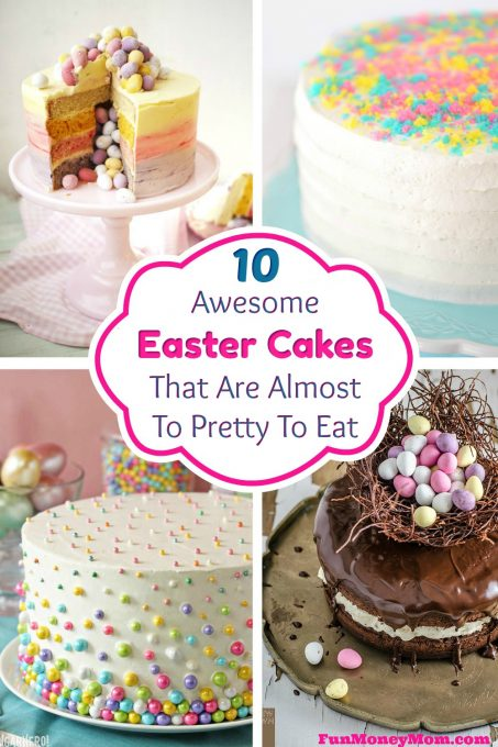 Easter Cakes - From a Peeps cake to Easter egg cakes, these beautiful cakes for Easter will inspire you to make a pretty Easter dessert of your own!
