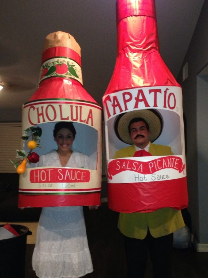 This cool couples costume is on the hot side