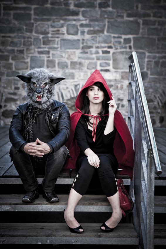 Red Riding Hood and The Big Bad Wolf make cool couple costumes