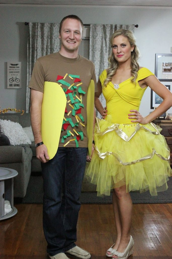 This Taco Belle costume makes an easy DIY Halloween costume for couples