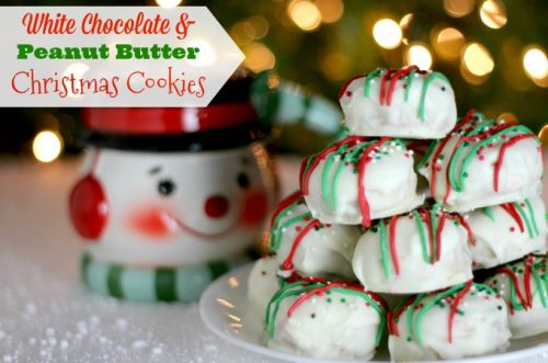 white chocolate Christmas cookies feature