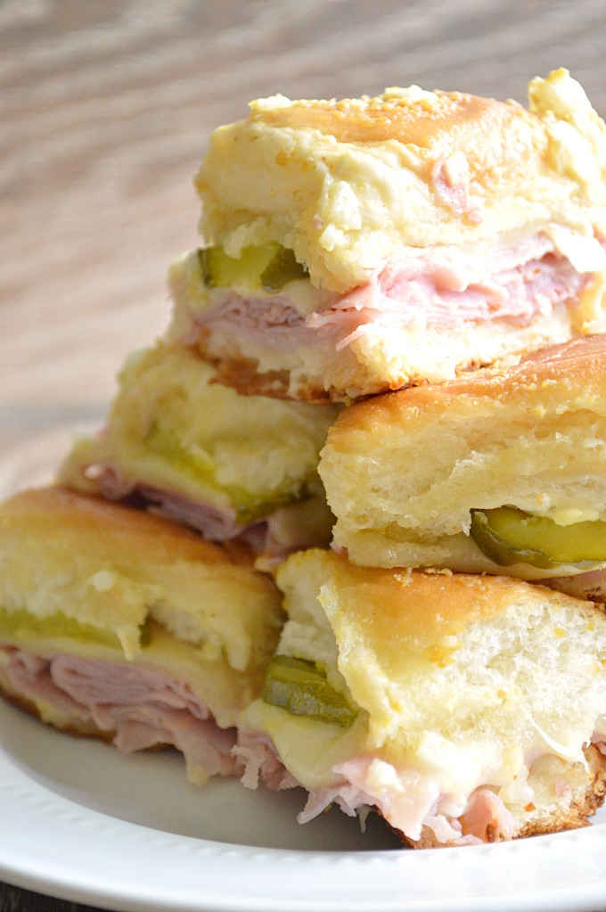 Cuban Slider make great football food ideas