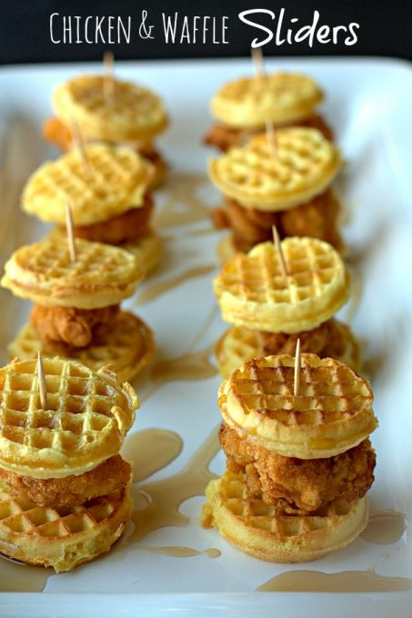 Chicken & Waffle Football Party Food