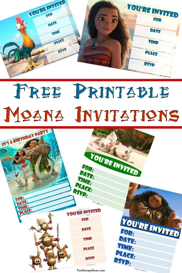 Moana Birthday Invitations - If you're throwing a Moana party, you'll need Moana party invitations! These free printable birthday invitations feature all your favorite Moana characters, from Maui to Hei Hei! #Moana #moanainvitations #moanabirthday #moanaparty #birthdayparty #kidsparty #princessparty #moanatheme #printableinvitations