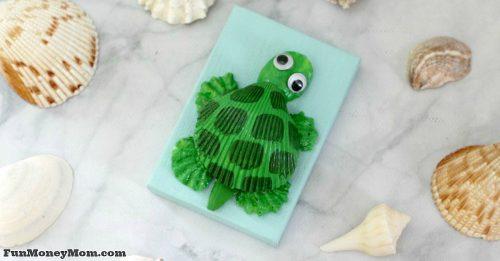 seashell turtle craft