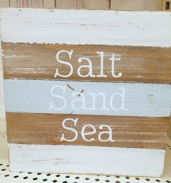 This sign gave me the inspiration for my coastal tray