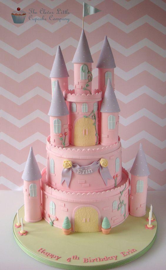 Disney princess cakes pink castle