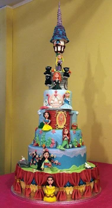 Disney princess cakes multi tiered