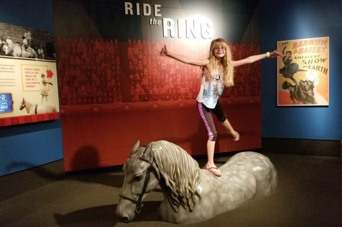Kids love visiting the Ringling in Sarasota, Florida for the Circus Museum