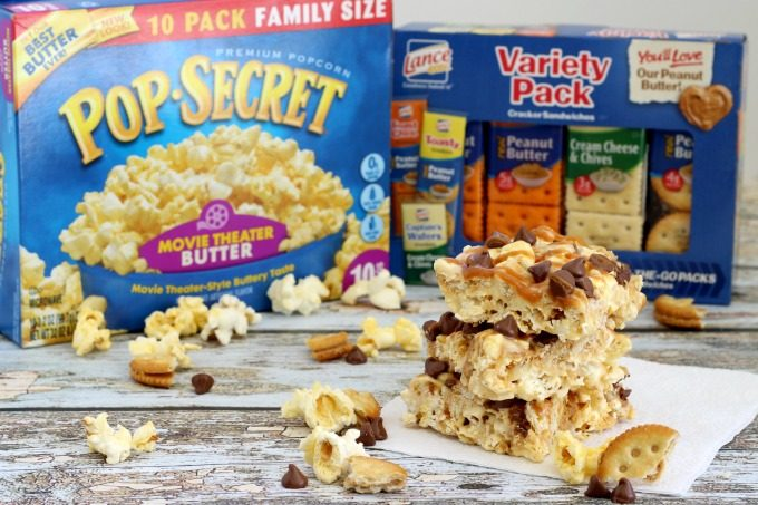 Who would have thought that popcorn and crackers combined make such delicious movie night snacks