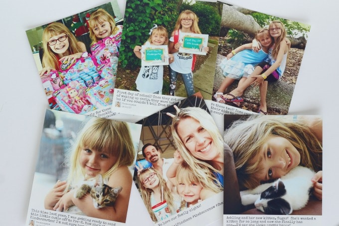 I printed pictures of the girls for their Grandma