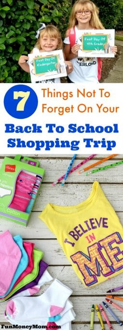 Of course you'll get new clothes and school supplies on your back to school shopping trip but just make sure you don't forget these important things too! #ad