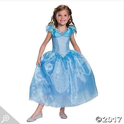 Easy Halloween costumes at Oriental Trading include Disney princess dresses.
