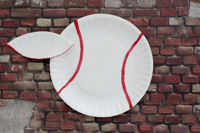 Trace the seams on both sides of the baseball.