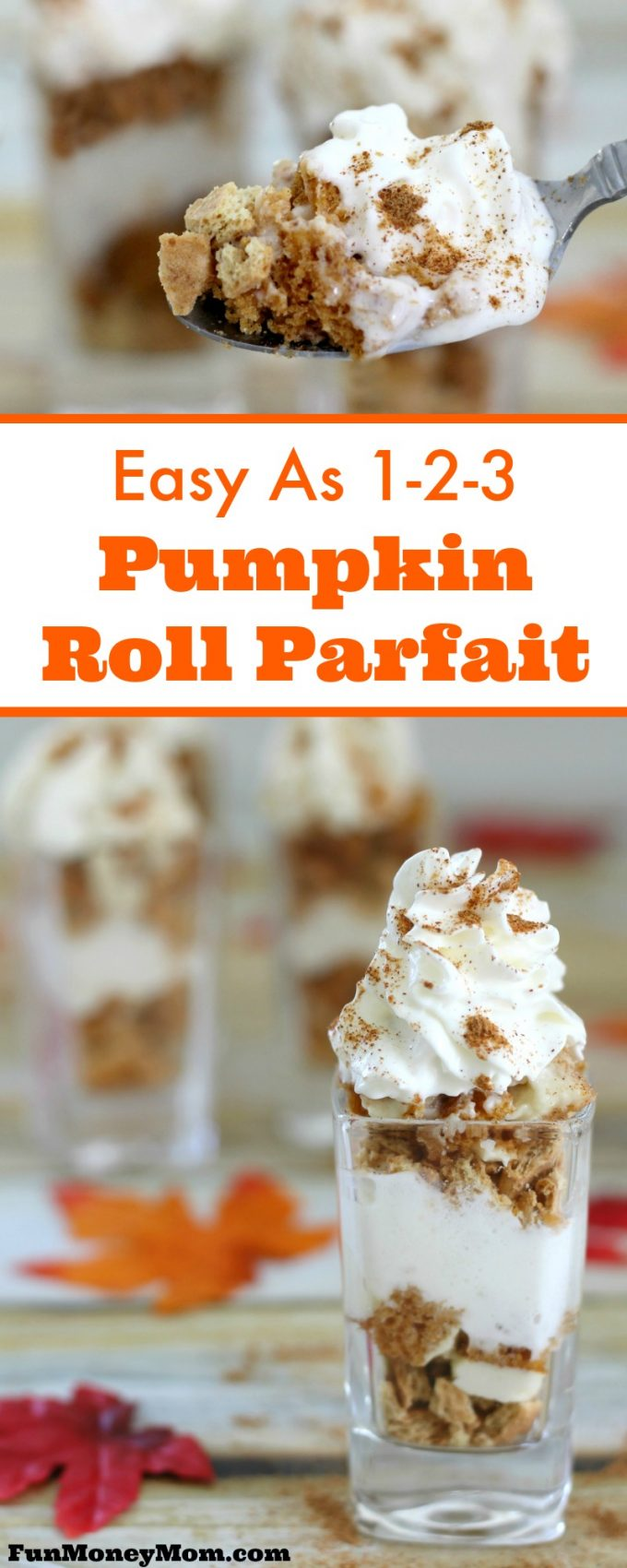 Want a super easy, yet delicious fall recipe that's as easy as 1-2-3? With just three main ingredients, this Pumpkin Roll Parfait takes just minutes to make and will disappear even faster! It's pumpkin spice and everything nice! #ad #reddiforfall